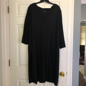 Eloquii 3/4 Sleeve Essential Tee Dress